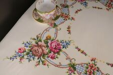 More details for lady radnor's vintage hand embroidered tablecloth exquisite antique linen