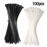 100PCS 14.5 Inch Plastic Wrap Zip Ties Cable Ties Heavy Duty 75 lbs Pure Nylon
