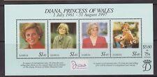 1998 Princess Diana Memorial Stamp Sheet MNH Samoa SG MS1028