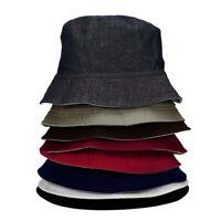 Folding Bucket Hat Men Women Fisherman Sun Cap Spring Summer Solid Color Fashion