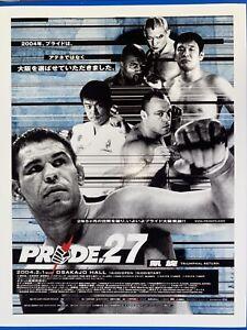 Pride 27 Event Print Poster Fc Fighting Championship ufc mma