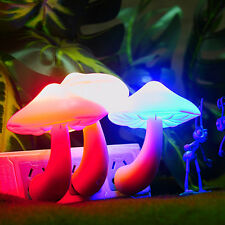 Multi-Color Energy Saving Mushroom LED Night Lights Sensor Control Lamp Bedside