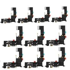Lot of 10 New Black Headphone Audio Charger Charging Port Flex Cable iPhone 5S