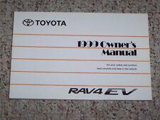 1999 Toyota Rav4 Rav 4 EV Electric Vehicle Owners Owner's User Manual Book