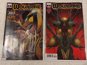 Marvel Comics! Wolverine #350 #8 Lot 2 Comic Lot Covers A & B Knullified (10/10)