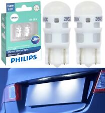 Philips Ultinon LED Light 158 White 6000K Two Bulb License Plate Tag Upgrade OE