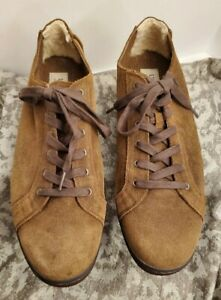 Mens UGG Vanowen Grizzly leather Suede Size 16 brown with padding on heel