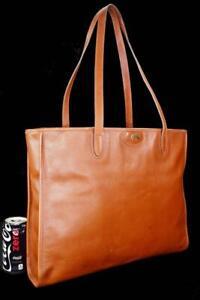 Vintage Ghurka Marley Hodgson 112 SUMMIT Burnt Orange Saffiano Lrg Leather Tote