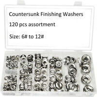 Qty 120 Screw Cup Washer No.6,8,10,12 Stainless Steel Finishing