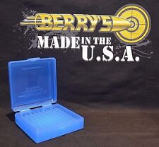 22 lr Ammo Box / Case / Storage (100) Round .22LR, .25 ACP (BLUE COLOR)