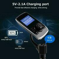 Bluetooth Car Kit MP3 Player FM Transmitter Wireless Radio Adapter Charger Q6H3