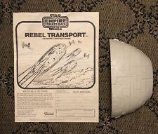 Vintage 1982 Rebel Transport Front Canopy & Instructions Good Shape