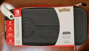 Official Nintendo Switch Deluxe Travel Case - Poke Ball Pokemon Black Hard shell