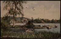Wynantskill NY ~ Snyders Lake Scene ~ Rensselaer County Antique Postcard