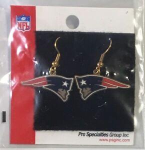 New England Patriots Logo Dangle Earrings NEW - FREE SHIPPING