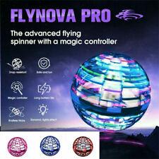Flynova-Pro LED Spinner Fliegender Hubschrauber UFO Ball Handbetriebene Drohnen