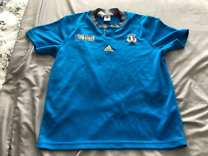 VINTAGE DEADSTOCK ADIDAS AGE 12 -13 ITALY WORLD CUP 215 RUGBY SHIRT..