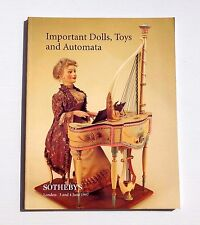 SOTHEBY'S CATALOGUE VENTE LONDON 1997 IMPORTANT DOLLS , TOYS AND AUTOMATA