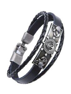 Anchor PU Leather Bracelet