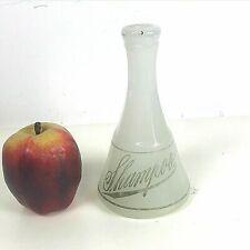 Antique Milk Glass Shampoo Barber Bottle, Barber Shop, Barbershop