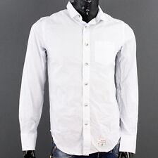 SUPERDRY Herren Gr. M Laundered Cut Collar Hemd Shirt Blau A1801