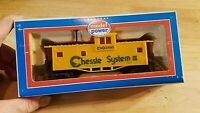 HO SCALE TRAIN Car IN BOX VINTAGE MODEL POWER CHESSIE SYSTEM YELLOW CABOOSE