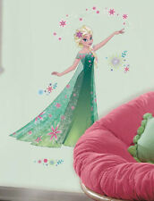 Disney FROZEN FEVER ELSA wall stickers MURAL 16 decals flowers room decor