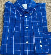 New Brooks Brothers Mens Regent Slim-Fit Dress Shirt Blue Plaid Size L NWT