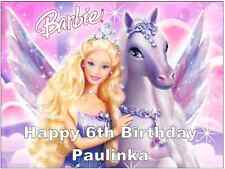 """Barbie Personalised Cake Topper Edible Wafer Paper A4 7.5"""" By 10"""""""