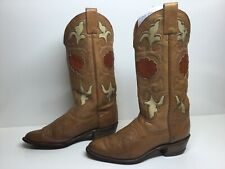 VTG WOMENS TEXAS COWBOY BROWN BOOTS SIZE 6.5 N