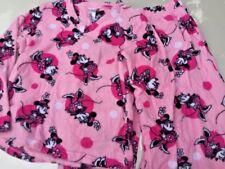 DISNEY Minnie Mouse Pink Soft Fleece Pajamas Sleepwear Set Womens Size M 8 10