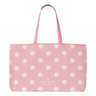 Kate Spade COTTON CANVAS TOTE COTTON CANDY Pink Polka Dot Bag Accessories NEW