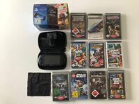 Sony PSP Street Schwarz mit 10 Gratis Spiele + Zubehörpaket