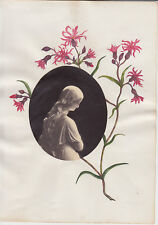 Lovely painting of flowers around a photo of a sculpture + Meyer von Bremen