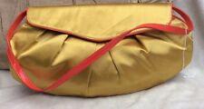 BNWOT SATIN EFFECT MATERIAL GOLD & ORANGE SHOULDER/CLUTCH BAG RRP £49
