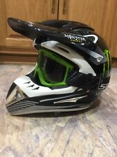 Motorcycle Men Women Helmet Monster Energy S 55-56cm And Scott Googles