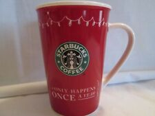 starbucks holiday mug only once a year 2005
