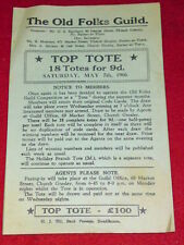 The Old Folks Guild - May 7 1966 - Top Tote