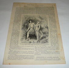 1878 page w/engraving ~ Zephyta ~ A Fairy Story