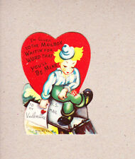 Double-Glo 1940s Valentine NOS Glued To The Mailbox Waiting For Word You B Mine