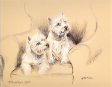 WEST HIGHLAND WHITE TERRIER DOG LIMITED EDITION PRINT  -  # 833 /850