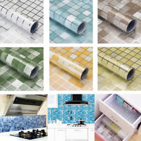 Aluminum Foil Kitchen Self-adhesive Mosaic Wall Stickers Oil-proof Waterproof