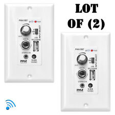 New Pyle Bluetooth In-Wall Receiver, Wall Plate Audio Amplifier USB (Lot of 2)