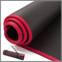 Black Yoga Mat Exercise Floor Mats Gym Judo Gymnastics Pilates Fitness Training