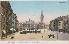 Reichenberg Bismarckplatz Litho Stadtbild 1901 Böhmen Sudeten OberPreschkau Hein