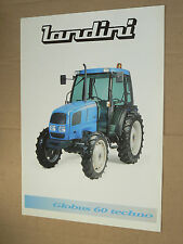 Prospectus  Tracteur LANDINI Globus 60 1997   brochure traktor tractor trattore