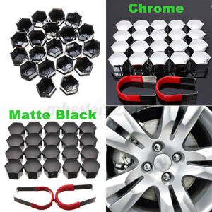 20Pcs 17mm Car Auto Locking Caps Bolts Covers Nuts Alloy Wheel Universal