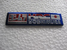 Aufkleber Alu Sticker Yoshimura Tuning Auspuff hitzebeständig Biker Motorrad HRC
