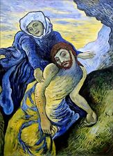 Van Gogh Pieta Repro, Quality Hand Painted Oil Painting 30x40in