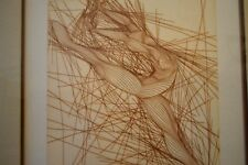 """Modernist Etching 1979 Guillaume Azoulay Etching """"Galina"""" Pencil Signed Numbered"""